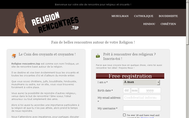 site de rencontres par religion pour croyants. Black Bedroom Furniture Sets. Home Design Ideas